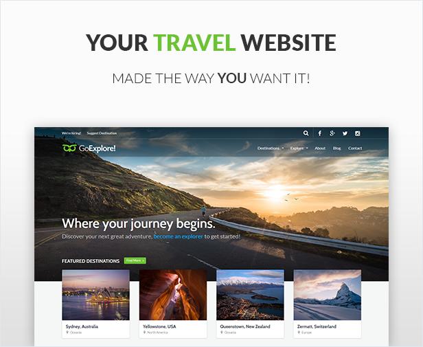 Travel WordPress Theme - GoExplore! - 1