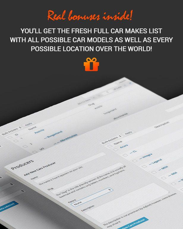 car classified vehicle database