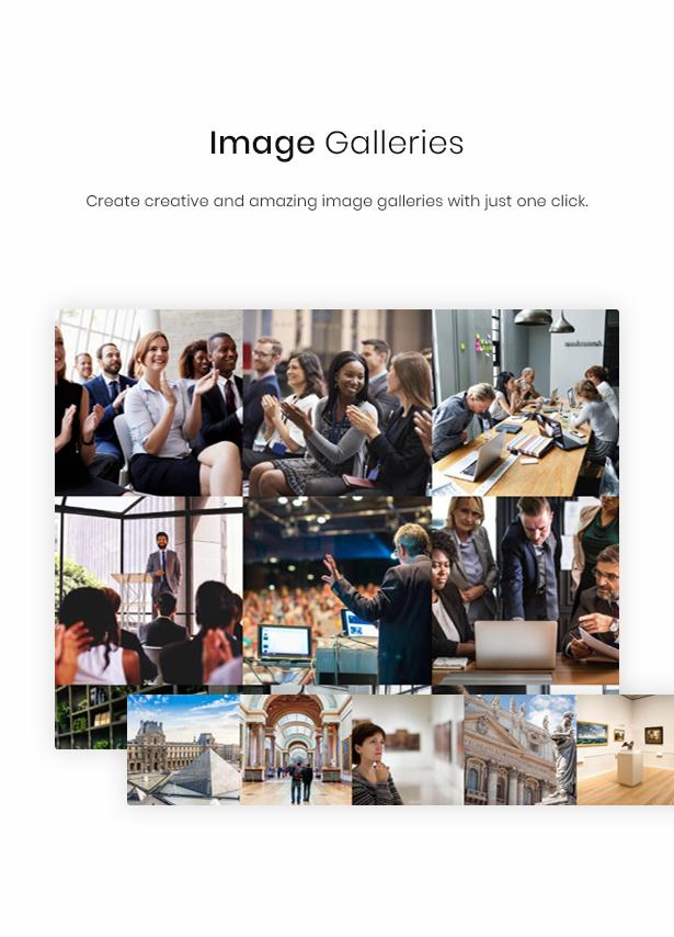 WordPress galleries theme