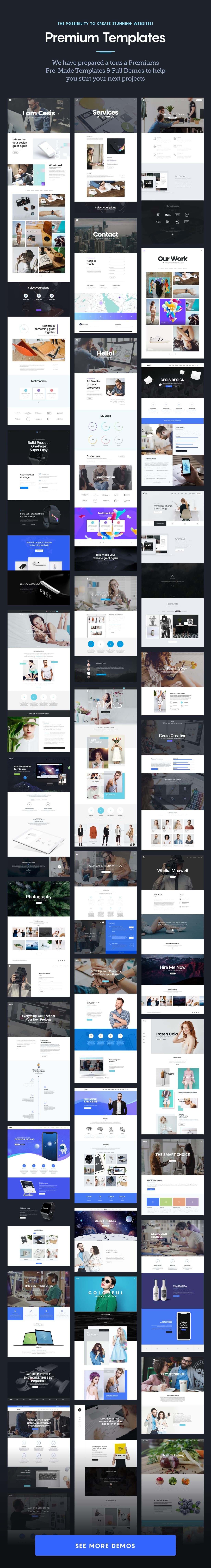 Cesis WordPress - 200+ Pre-made Templates & Demos
