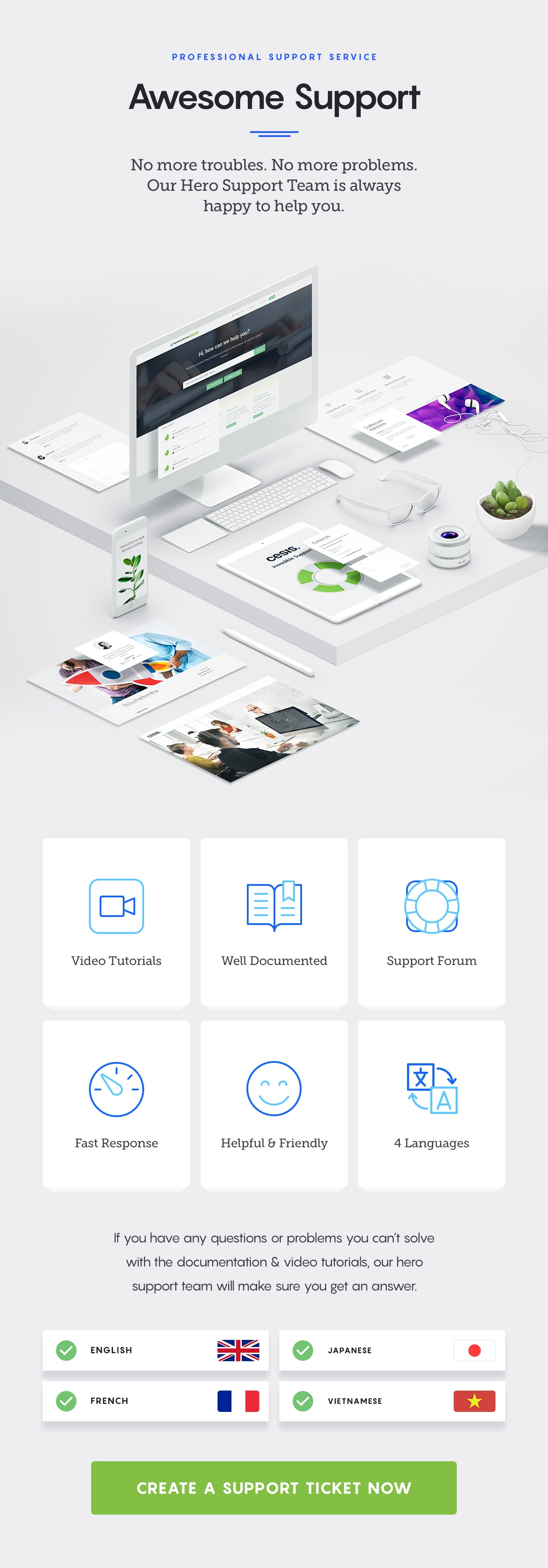 cesis wordpress theme - awesome support