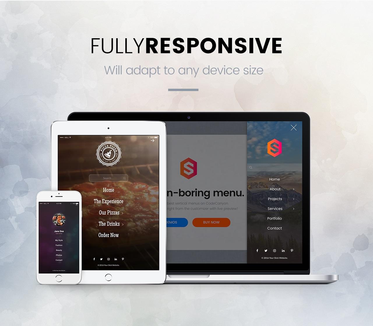 Slick Menu - Fully Responsive