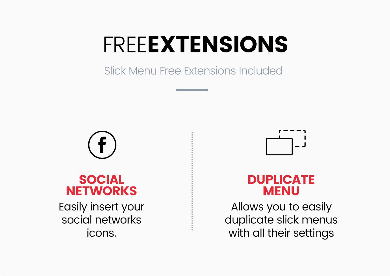 Slick Menu - Extensions