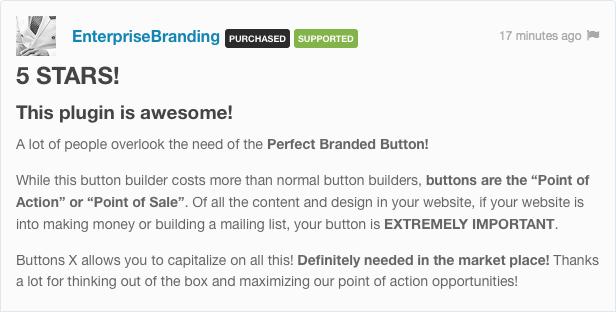 Buttons X - Powerful Button Builder for WordPress - 1