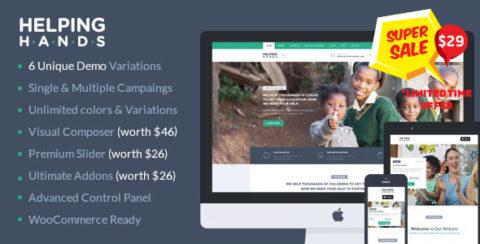 Charity WordPress Theme | HelpingHands