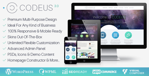 Codeus — Multi-Purpose Responsive Wordpress Theme