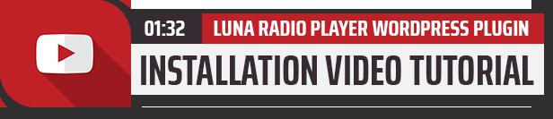 Luna Radio Player Plugin with Audio Visualizer