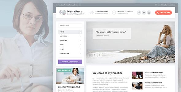 MentalPress - WP Theme for your Medical or Psychology Website.