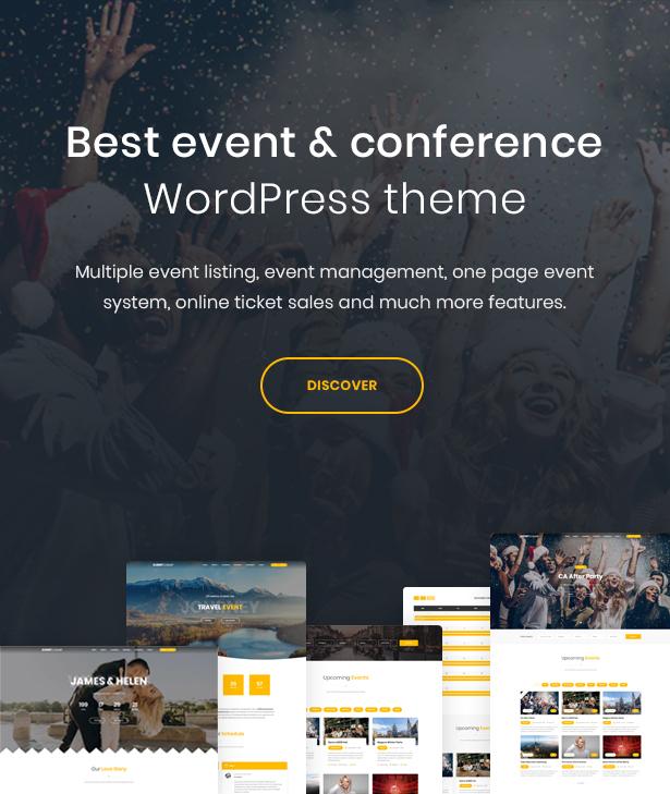 WordPress event theme