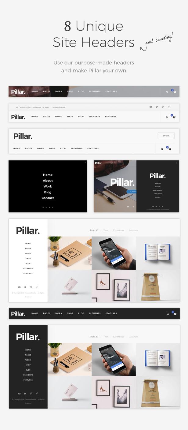 Pillar 8 Headers