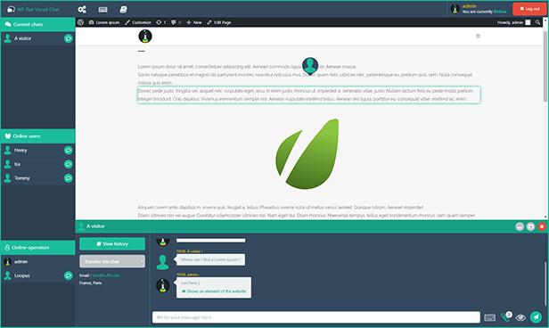 WP Visual Chat remote desktop viewer