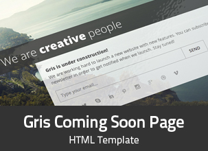 Gris - Creative Coming Soon