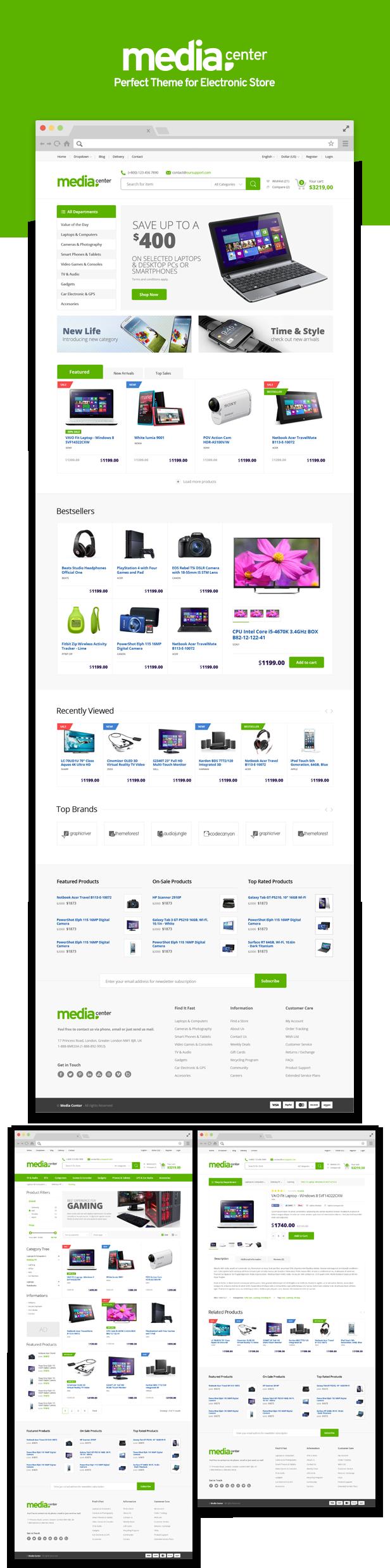 MediaCenter - Electronics Store WooCommerce Theme - 9
