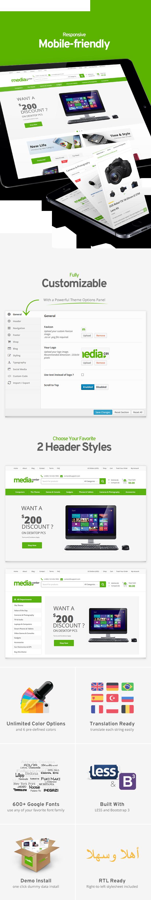 MediaCenter - Electronics Store WooCommerce Theme - 10