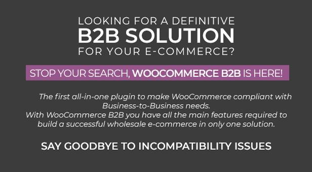 WooCommerce B2B - Description