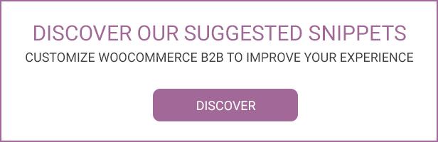 WooCommerce B2B - Snippets