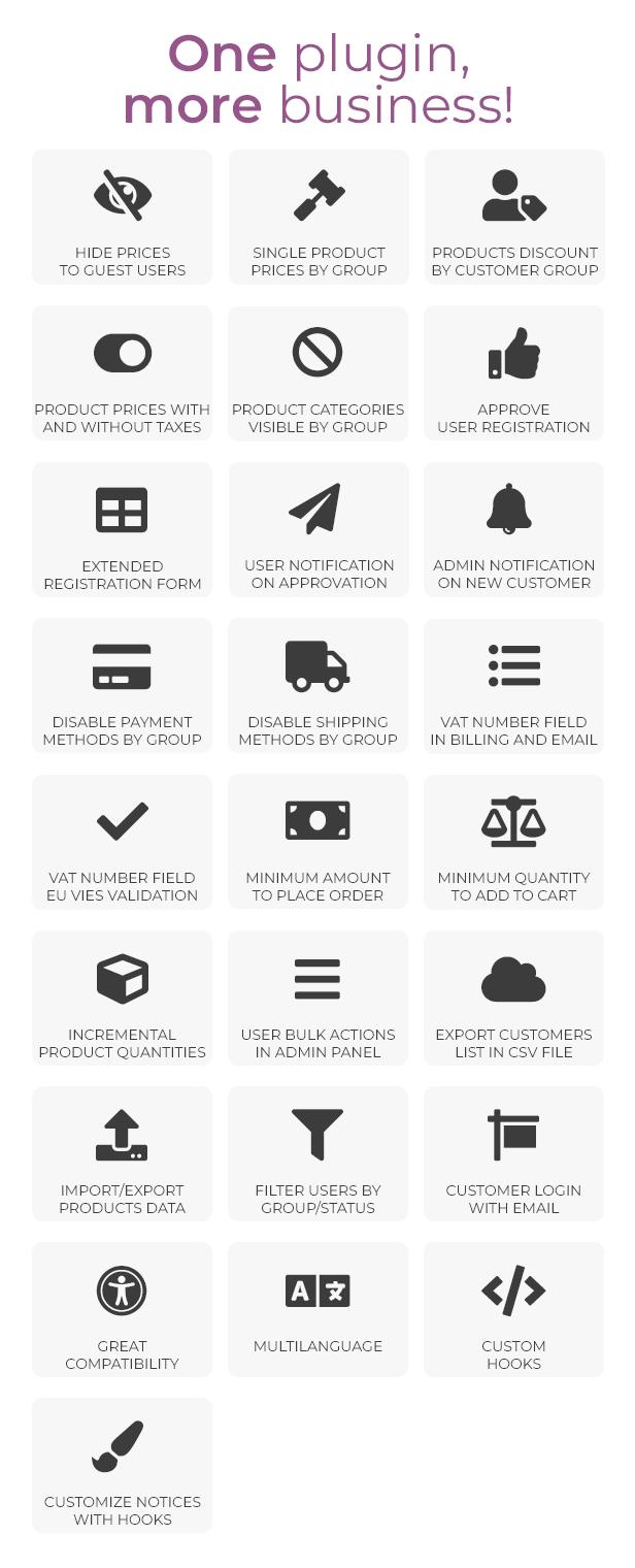 WooCommerce B2B - Features