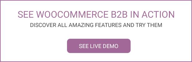 WooCommerce B2B - Demo