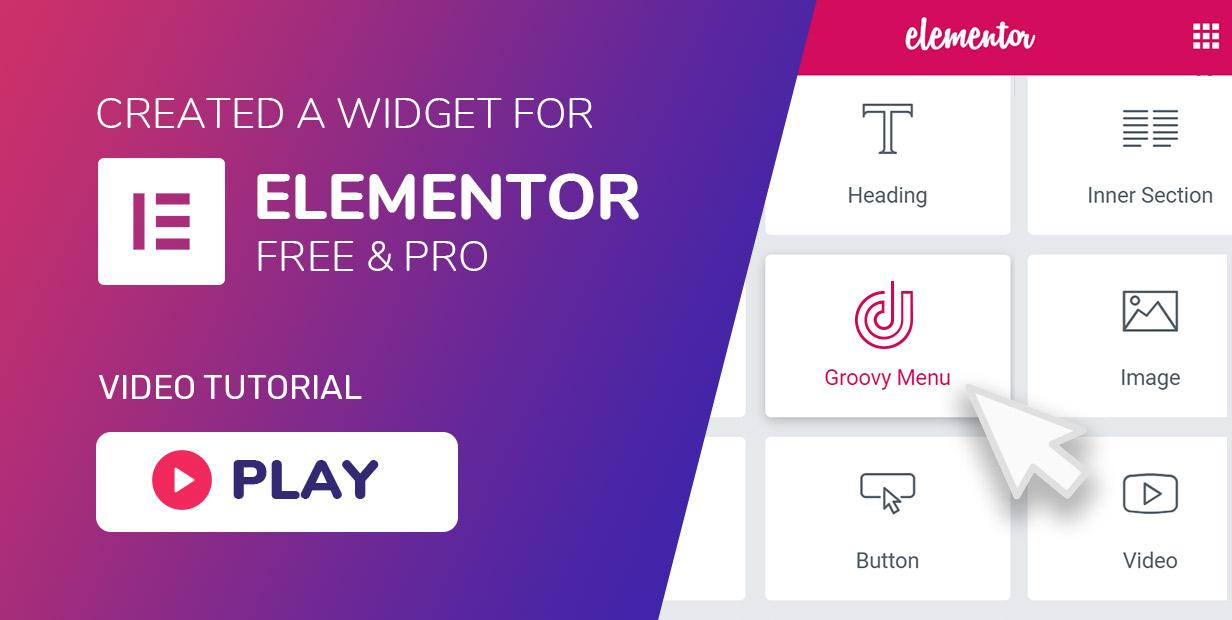 Mega menu has a widget (element) for Elementor free and pro