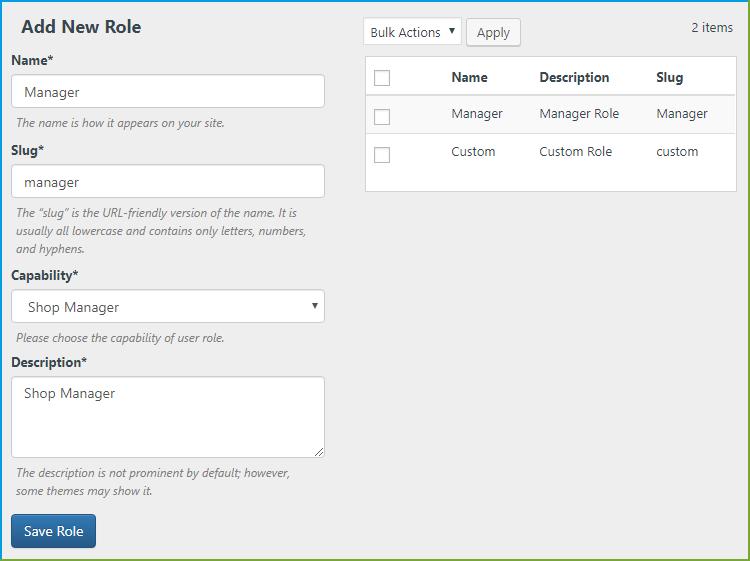 Custom Role -WooCommerce Registration Fields