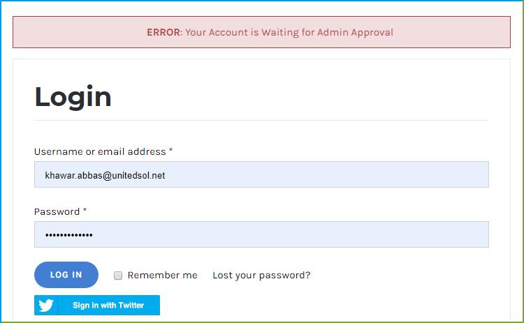 WooCommerce Social Login - Display custom message