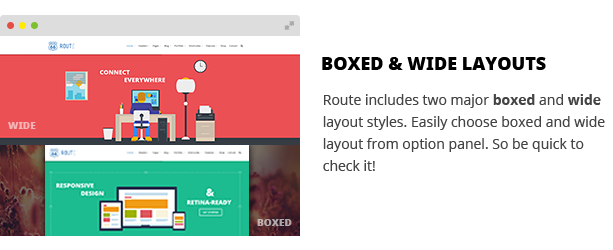 Boxed & Wide Layouts