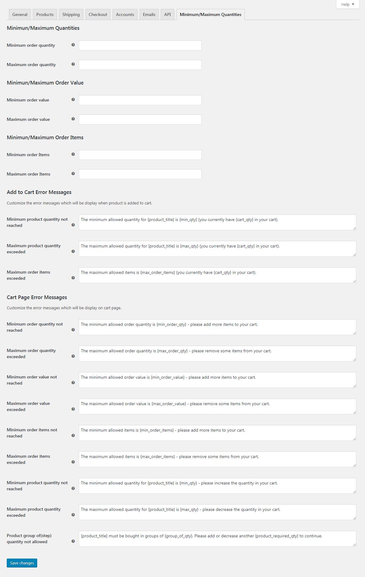 WooCommerce - Minimum/Maximum Quantities - 1