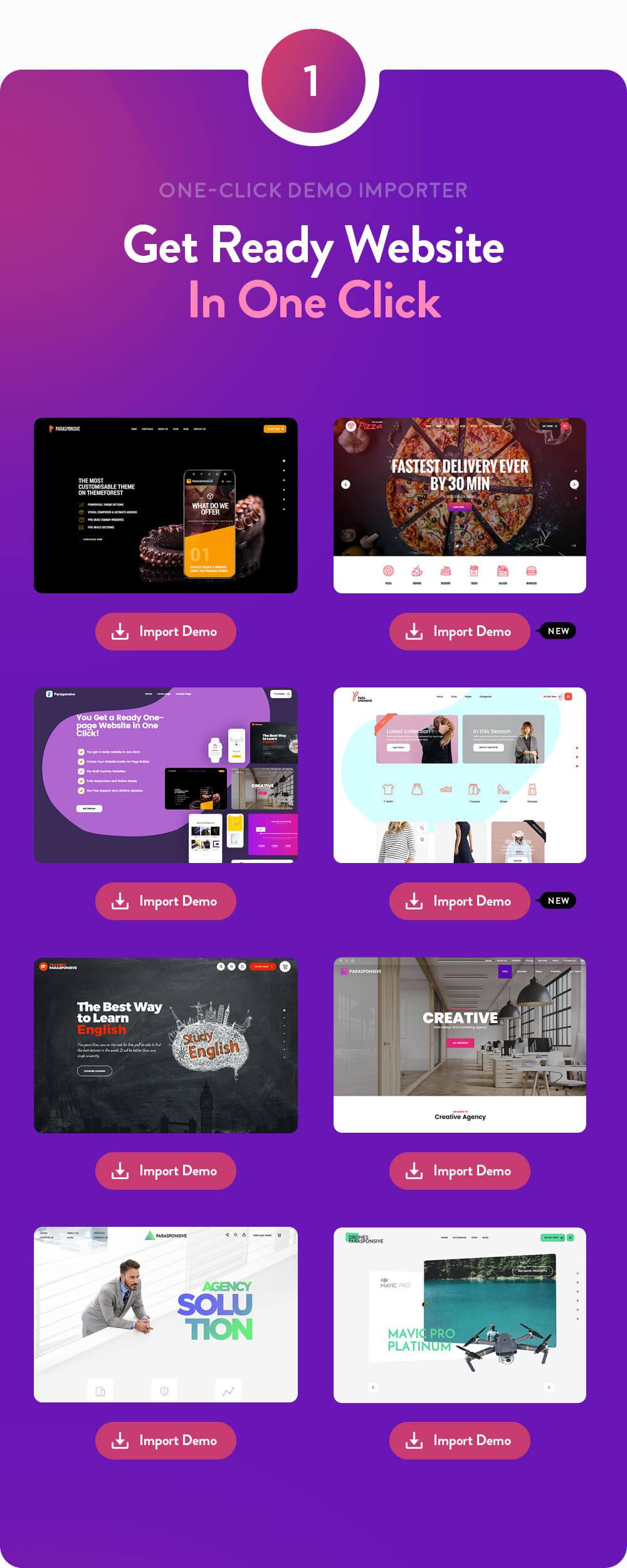 Parasponsive - One-page Landing WooCommerce Theme - 2
