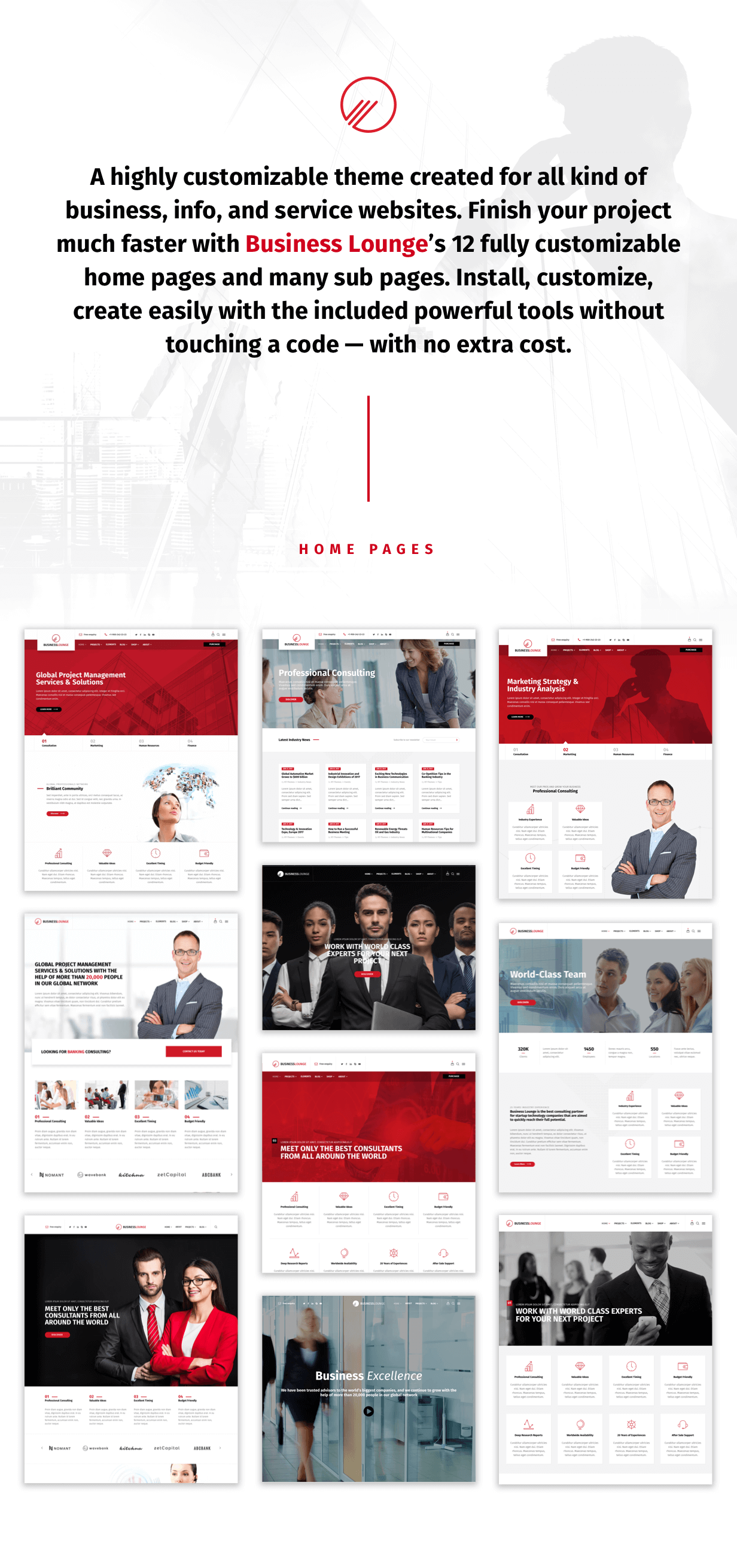 Business Lounge   Multi-Purpose Consulting & Finance Theme - 1