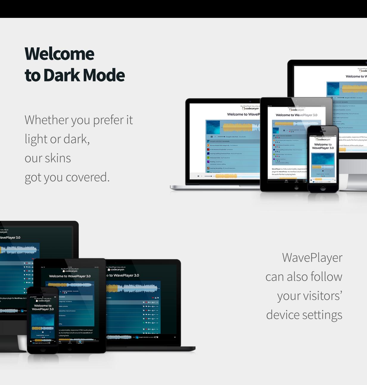 WavePlayer - WordPress Audio Player with Waveform and Playlist - 3