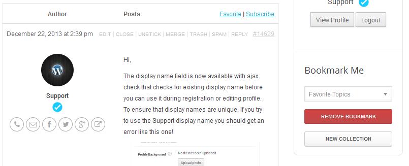 WordPress User Bookmarks for UserPro - 4