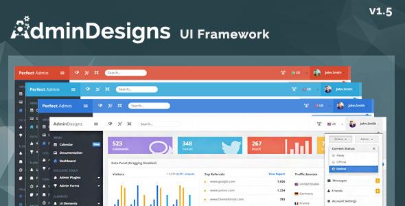 AdminDesigns - Bootstrap Admin Template Framework