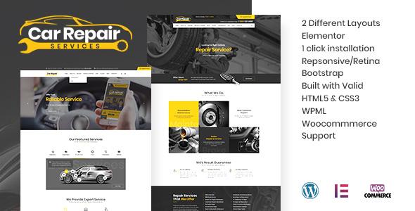 Car Repair Services & Auto Mechanic WordPress Theme + RTL