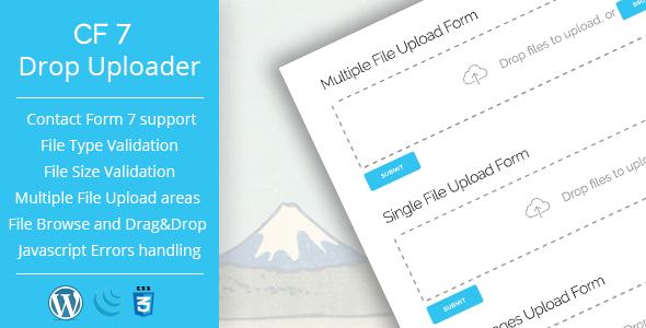 Drop Uploader for CF7 - Drag&Drop File Uploader Addon