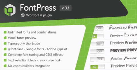 FontPress - Wordpress Font Manager