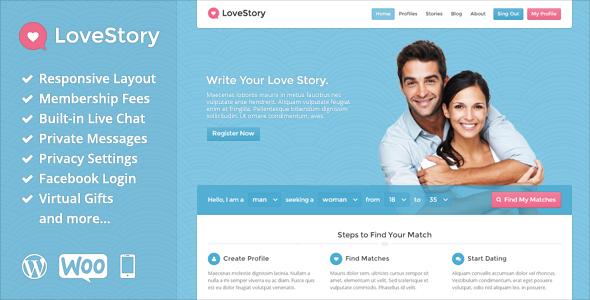 LoveStory - Dating WordPress Theme