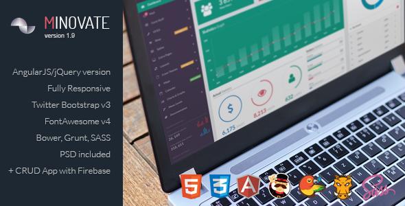 Minovate - Angular Admin Dashboard