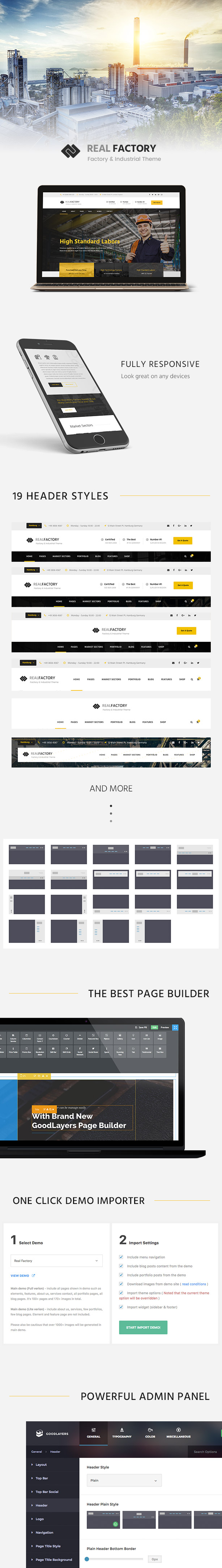 Construction WordPress Theme For Construction & Industrial Company   Real Factory - 1