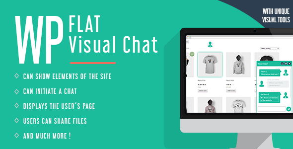 WP Flat Visual Chat - Live Chat & Remote View for Wordpress