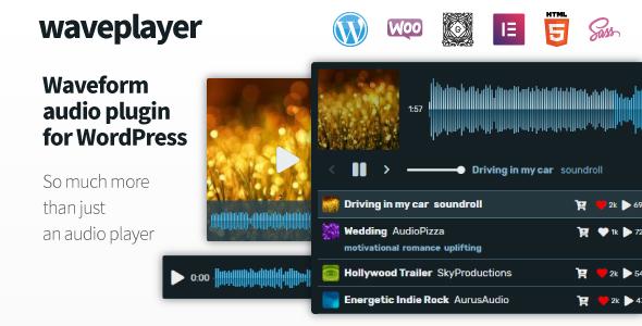 WavePlayer - Waveform Audio Player for WordPress and WooCommerce