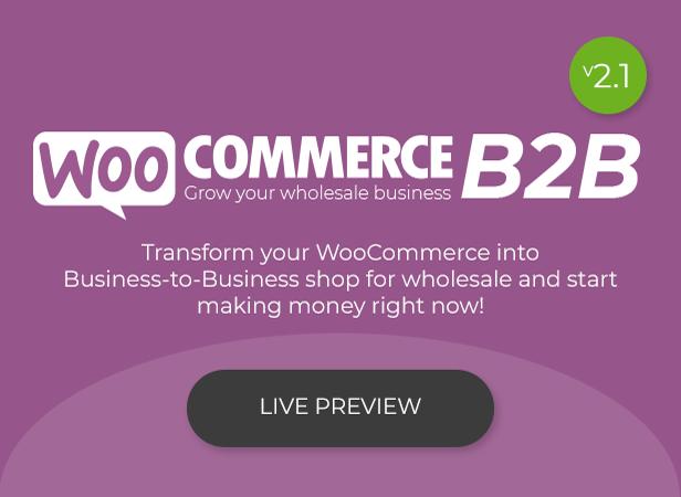 WooCommerce B2B - Intro