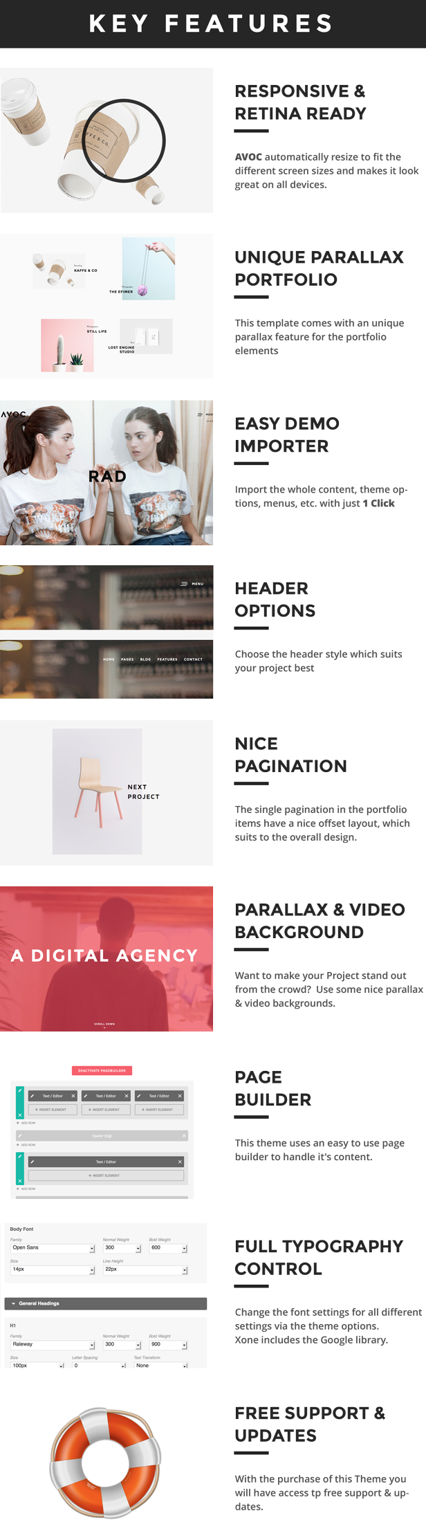 Avoc - Unique and Minimal Portfolio / Agency WordPress Theme - 8