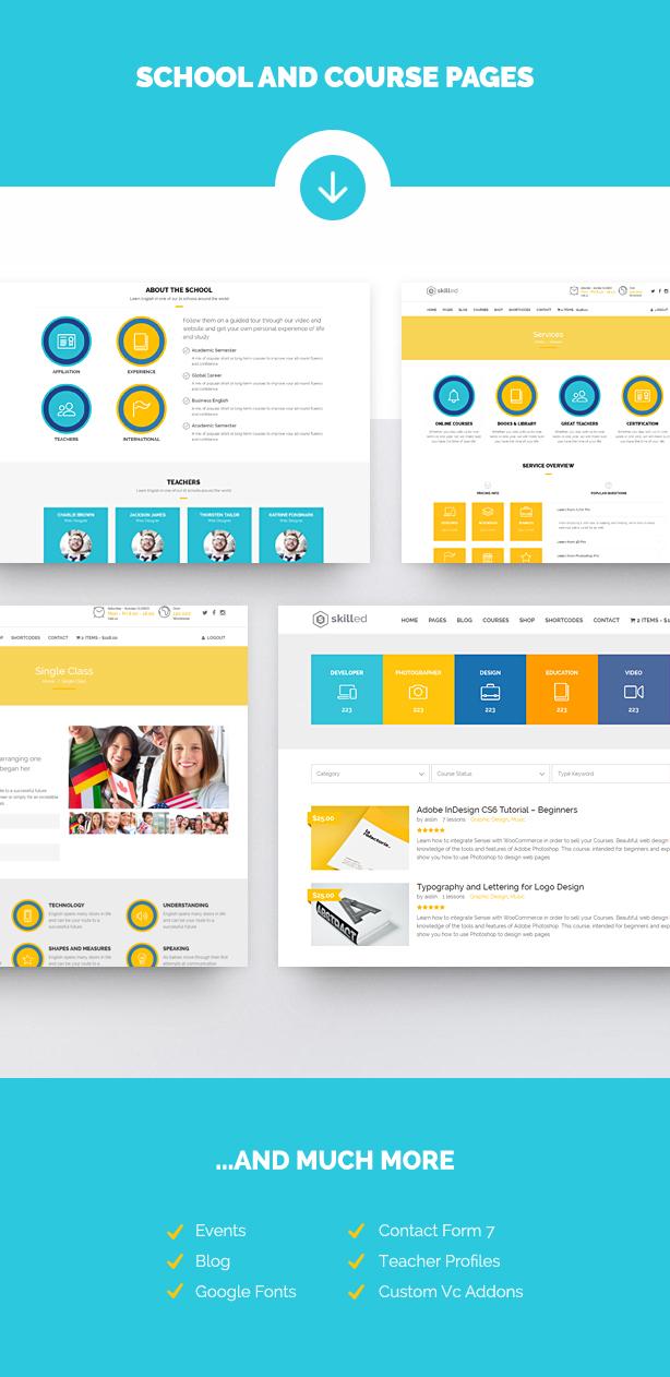 Skilled | School Education Courses WordPress Theme - 7
