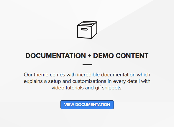 Theme novice wordpress users with full documentation and support