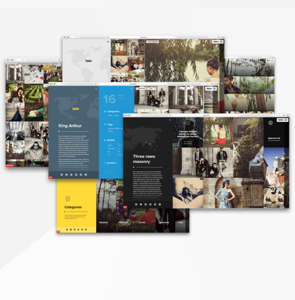 Wordpress theme for creatives with unlimited flexible layouts