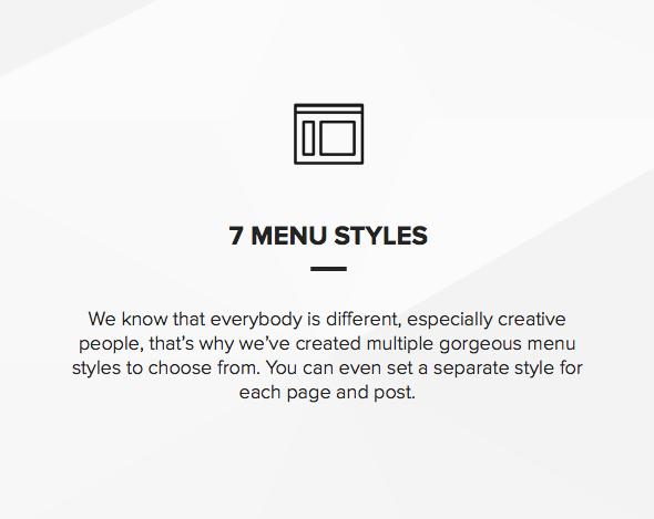 Theme with slideout and fullscreen menu