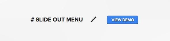 Wordpress theme with off canvas slideout menu