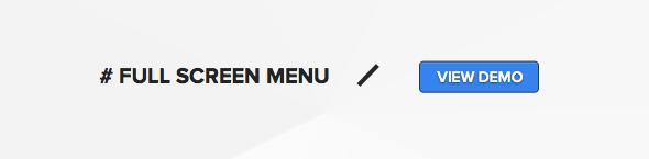 Wordpress theme with full screen animated menu