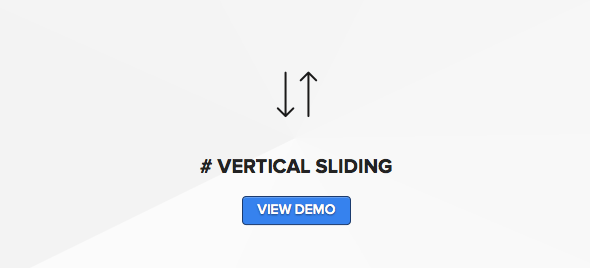 Wordpress theme for photographers with vertical sliding