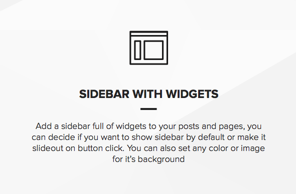 Photography template with a sidebar